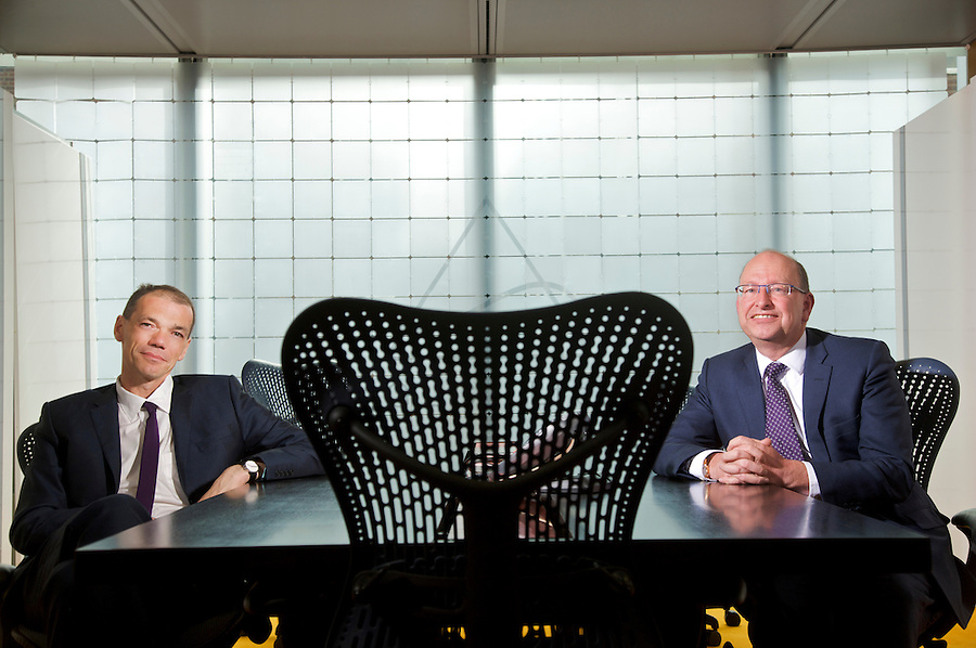 """(l-r) Lawrence Staden, Managing Director of GLC and Steven Bell, Chief Economist at GLC, a UK based independent fund management company based in the Soho district of London. Together they host radio programmes discussing the financial industry as """" Loz 'n"""" Belly """""""