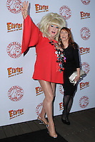HOLLYWOOD, CA - OCTOBER 18: Lady Bunny, Cassandra Peterson attends the launch party for Cassandra Peterson's new book 'Elvira, Mistress Of The Dark' at the Hollywood Roosevelt Hotel on October 18, 2016 in Hollywood, California. (Credit: Parisa Afsahi/MediaPunch).