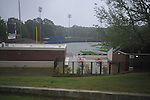 Water stands in the outfield of Oxford-University Stadium in Oxford, Miss. on Wednesday, April 27, 2011.