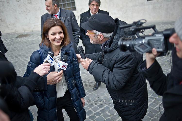 ROMA 15/03/2012: Inizia la XVII Legislatura della Repubblica Italiana. L'ingresso degli Onorevoli a Montecitorio. Nella foto Alessandra Moretti PD  FOTO DI LORETO ADAMO