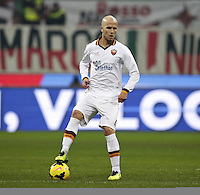 MILAN, Italy: December 16, 2013: AC Milan and As Roma tie 2-2 during the Serie A match played in the San Siro Stadium.