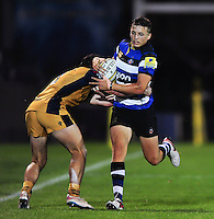 Darren Atkins of Bath United goes on the attack. Aviva A-League match, between Bath United and Bristol United on September 19, 2016 at the Recreation Ground in Bath, England. Photo by: Patrick Khachfe / Onside Images