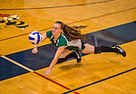 2014-10-07 HS: Vermont Commons School at Essex High Volleyball
