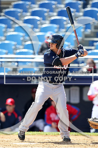 New Hampshire Fisher Cats designated hitter John Tolisano #23 at bat during a game against the Reading Phillies at FirstEnergy Stadium on May 5, 2011 in Reading, Pennsylvania.  New Hampshire defeated Reading by the score of 10-5.  Photo By Mike Janes/Four Seam Images
