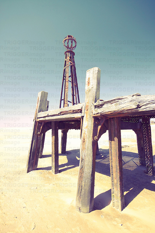 Close up of part of the old Jetty at Lytham in the UK