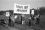 Troops Out Movement demonstrate against the Peace Movement, Hyde Park London rally then march to Trafalgar Square. 1976...My ref /1481/,1976,