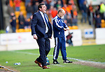 St Johnstone v Dundee United...09.05.15   SPFL<br /> Tommy Wright shouts instructions<br /> Picture by Graeme Hart.<br /> Copyright Perthshire Picture Agency<br /> Tel: 01738 623350  Mobile: 07990 594431