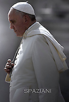 Pope Francis during general audience in St. Peter square at the Vatican,.October 8, 2014