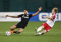 Washington, D.C. - Saturday, April 11, 2015: DC United and the New York Red Bulls tied at 2-2 in a MLS match at RFK Stadium.
