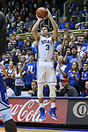 26 November 2014: Duke's Grayson Allen. The Duke University Blue Devils hosted the Furman University Paladins at Cameron Indoor Stadium in Durham, North Carolina in a 2014-16 NCAA Men's Basketball Division I game. Duke won the game 93-54.