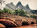 Bridge over Li River, Xing Ping, China