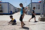 Mcc0070043 . Daily Telegraph<br /> <br /> DT News<br /> <br /> The Virgin Mary Camp in Baghdad for Christians that escaped persecution in Mosul when ISIS took the city .<br /> <br /> Baghdad 13 May 2016