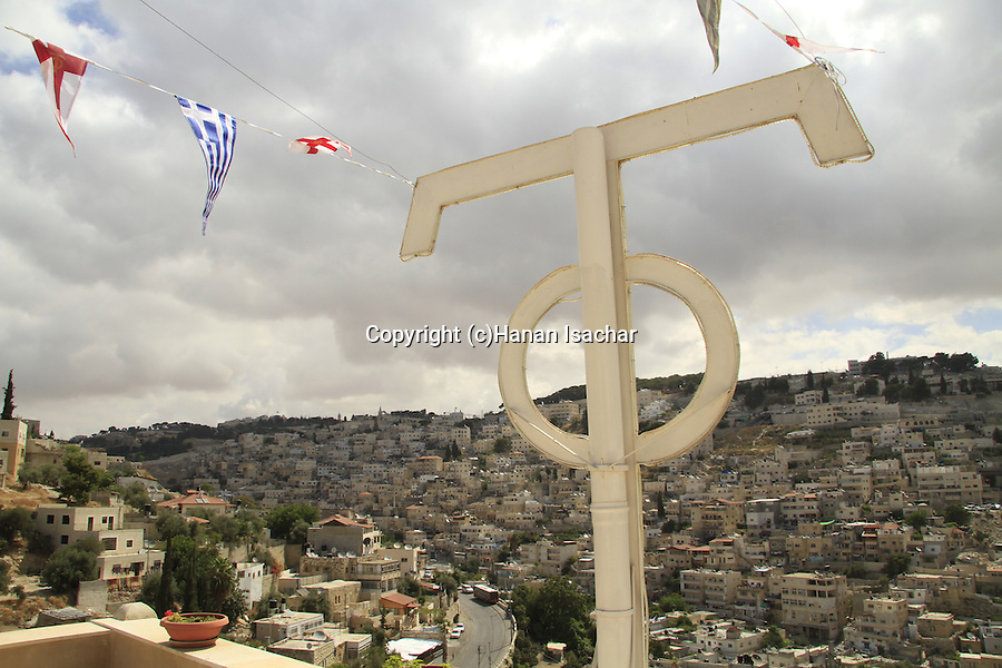 Israel, Jerusalem, a view of Silwan from the Greek Orthodox St. Onuphrius Monastery