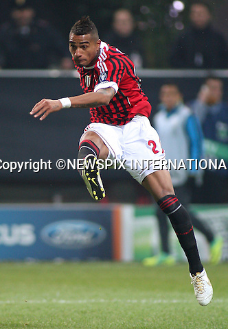"""KEVIN PRINCE BOATENG.scores for AC Milan during the UEFA Champions League group H match between AC Milan and FC Barcelona at Giuseppe Meazza Stadium, Milan_23/11/2011.Mandatory Credit Photos:©Lotti Sestini/Newspix International..              ***ALL FEES PAYABLE TO: """"NEWSPIX INTERNATIONAL***..IMMEDIATE CONFIRMATION OF USAGE REQUIRED:.Newspix International, 31 Chinnery Hill, Bishop's Stortford, ENGLAND CM23 3PS.Tel:+441279 324672  ; Fax: +441279656877.Mobile:  07775681153.e-mail: info@newspixinternational.co.uk"""