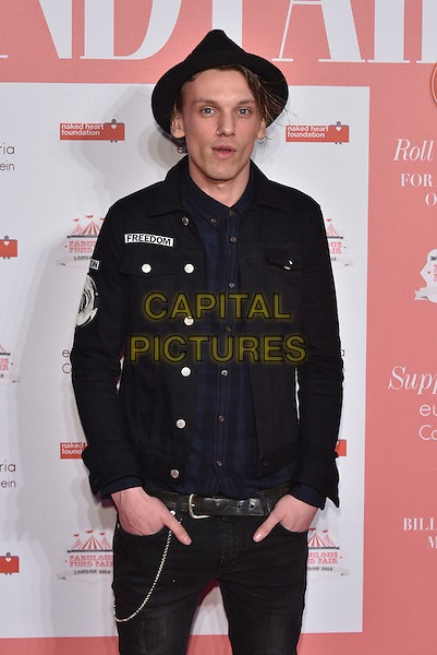 Jamie Campbell Bower<br /> arrivals at London's Fabulous Fund Fair 2016 in aid of the Naked Heart Foundation at Old Billingsgate Market on 20th February 2016.<br /> CAP/PL<br /> &copy;Phil Loftus/Capital Pictures