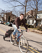 February 20, 2012. Raleigh, NC.. Phillip Zucchino, one of the Wine Feed owners,. Wine Feed is a new full service wine shop on Glenwood South that offers home delivery by bike and car, as well as a walk in shop..