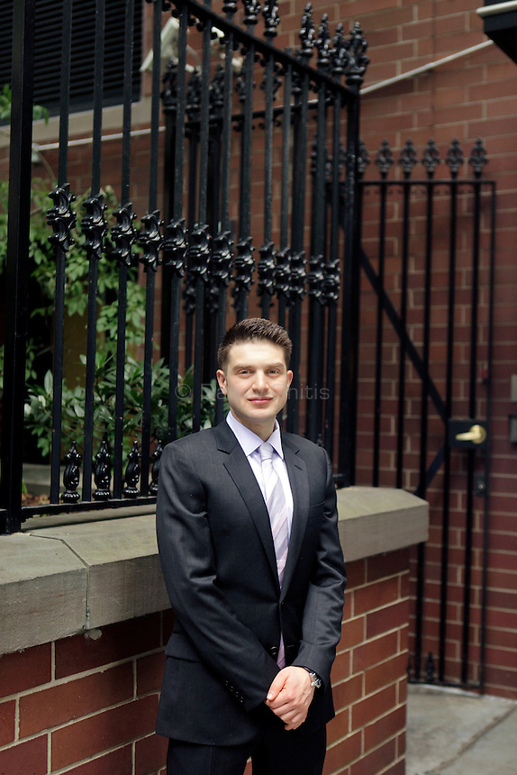 Alexander Soros, the son of billionaire hedge fund manager and philanthropist George Soros, poses for a portrait at the Open Society Institute. He is on the board of Open Society Foundations and has started his own philanthropy dedicated to promoting social justice and human rights...Danny Ghitis for The New York Times