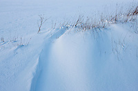 Snowdrift in a field in The Cotswolds, Swinbrook, Oxfordshire, United Kingdom