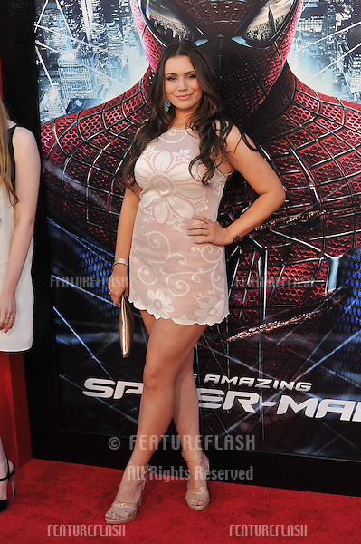 "Sophie Simmons, daughter of KISS star Gene Simmons, at the world premiere of ""The Amazing Spider-Man"" at Regency Village Theatre, Westwood..June 29, 2012  Los Angeles, CA.Picture: Paul Smith / Featureflash"