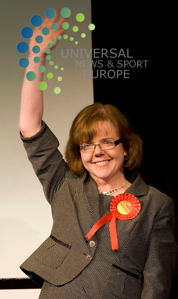 Ann McKechin wins for Labour Glasgow North Eastduring the general election count at the Scottish Exhibition Centre (SECC), Glasgow..6 May 2010 Picture: Maurice McDonald/Universal News And Sport (Europe)...