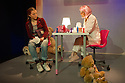 Theatre503 presents CLICKBAIT, by Milly Thomas, directed by Holly Race Roughan, starring Georgia Groome. Picture shows: Emma D'Arcy (Kat), Alice Hewkin (Chloe)