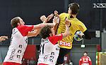 Bremen, 09.08.15, Sport, Handball, Erima-Cup 2015, Finale, SG Flensburg-Handewitt-Rhein-Neckar L&ouml;wen : Holger Glandorf (SG Flensburg-Handewitt, #09), Bogdan Radivojevic (SG Flensburg-Handewitt, #41), Andy Schmid (Rhein-Neckar L&ouml;wen #02)<br /> <br /> Foto &copy; P-I-X.org *** Foto ist honorarpflichtig! *** Auf Anfrage in hoeherer Qualitaet/Aufloesung. Belegexemplar erbeten. Veroeffentlichung ausschliesslich fuer journalistisch-publizistische Zwecke. For editorial use only.