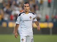 LA Galaxy midfielder Landon Donovan (10) looks for the ball. The Puerto Rico Islanders defeated the LA Galaxy 4-1 during CONCACAF Champions League group play at Home Depot Center stadium in Carson, California on Tuesday July 27, 2010.