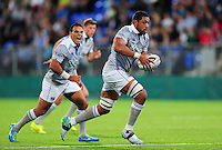 Taulupe Faletau of Bath Rugby in possession. Pre-season friendly match, between Leinster Rugby and Bath Rugby on August 26, 2016 at Donnybrook Stadium in Dublin, Republic of Ireland. Photo by: Patrick Khachfe / Onside Images