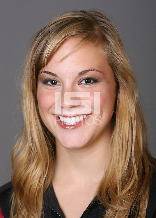 STANFORD, CA - OCTOBER 1: Allison Coates of the Stanford Cardinal synchronized swimming team poses for a headshot on October 1, 2008 in Stanford, California.