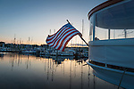Aboard the classic yacht Olympus, in Port Townsend at sunset.