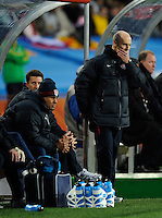 USA manager Bob Bradley looks concerned
