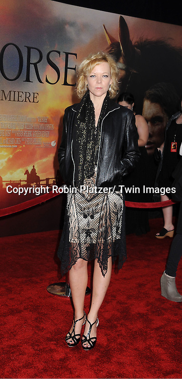 """Emily Bergl attends the world premiere of """"War Horse"""" on December 4, 2011 at Avery Fisher Hall in New York City."""