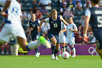 Glasgow, Scotland - July 25, 2012: Alex Morgan of the US women's national team during USA's 4-2 win over France.