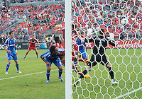 July 3, 2013: Toronto FC defender Steven Caldwell #13 scores a goal during an MLS game between Toronto FC and Montreal Impact at BMO Field in Toronto, Ontario Canada.<br /> The game ended in a 3-3 draw.