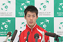 Kei Nishikori (JPN), FEBRUARY 10, 2012 - Tennis : Davis Cup 2012, World Group First Round match Japan 1-1 Croatia at Bourbon Beansdome, Hyogo, Japan. (Photo by Akihiro Sugimoto/AFLO SPORT) [1080]