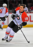 18 December 2008: Philadelphia Flyers' center and Team Captain Mike Richards warms up prior to facing the Montreal Canadiens at the Bell Centre in Montreal, Quebec, Canada. The Canadiens look to avoid a four-game slide, while the Flyers seek their sixth win in a row. The Canadiens defeated the Flyers 5-2. ***** Editorial Sales Only ***** Mandatory Photo Credit: Ed Wolfstein Photo