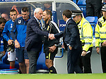 Rangers v St Johnstone....28.08.10  .Walter Smith and Derek McInnes shake hands at full time.Picture by Graeme Hart..Copyright Perthshire Picture Agency.Tel: 01738 623350  Mobile: 07990 594431