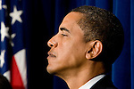 Sen. Barack Obama (D-IL) attends a press conference with other Senate Democratic leaders to highlight their new ethics reform package for the 110th Congress.
