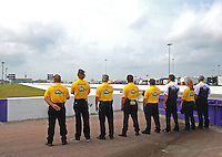May 1, 2011; Baytown, TX, USA: NHRA safety safari during the Spring Nationals at Royal Purple Raceway. Mandatory Credit: Mark J. Rebilas-