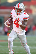 College Park, MD - November 12, 2016: Ohio State Buckeyes running back Curtis Samuel (4) scores a touchdown during game between Ohio St. and Maryland at  Capital One Field at Maryland Stadium in College Park, MD.  (Photo by Elliott Brown/Media Images International)