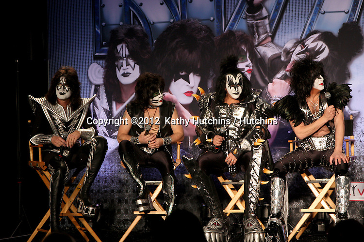 LOS ANGELES - MAR 20:  KISS at the Kiss and Motely Crue Tour Press Conference at the Roosevelt Hotel on March 20, 2012 in Los Angeles, CA