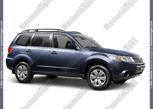 2010 Subaru Forester SUV isolated on white background with clipping path