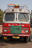 Agra, India.  Cross-country Bus.