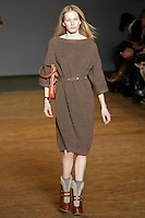 Marique Schimmel walks runway in an outfit from the Marc by Marc Jacobs Fall/Winter 2011 collection, during New York Fashion Week, Fall 2011.