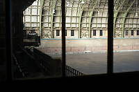 Originally the Troop C Armory, then the 42nd Supply and Transport Battalion New York National Guard Armory and now the Bedford-Union Armory in the Crown Heights neighborhood of Brooklyn on Monday, January 9, 2012.The massive 1908 building, designed by Pilcher, Thomas and Tachau is no longer used by the National Guard and plans are being developed by the community to determine  its future use. The building has housed film shoots, Orthodox Jewish dinners and a homeless shelter in the past. Neighborhood activists are pushing for the building to be turned into a community center. (© Frances M. Roberts)