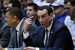 04 February 2015: Duke head coach Mike Krzyzewski. The Duke University Blue Devils hosted the Georgia Tech Yellow Jackets at Cameron Indoor Stadium in Durham, North Carolina in a 2014-16 NCAA Men's Basketball Division I game. Duke won the game 72-66.