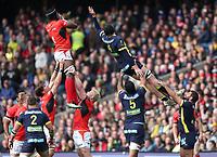 Saracens' Maro Itoje wins line out ball<br /> <br /> Photographer Rachel Holborn/CameraSport<br /> <br /> European Rugby Champions Cup Final - Clermont Auvergne v Saracens - Saturday 13th May 2017 - BT Murrayfield, Edinburgh<br /> <br /> World Copyright &copy; 2017 CameraSport. All rights reserved. 43 Linden Ave. Countesthorpe. Leicester. England. LE8 5PG - Tel: +44 (0) 116 277 4147 - admin@camerasport.com - www.camerasport.com