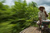 Bamboo Train Battambang, Cambodia