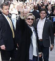 APR 21 Hillary Clinton seen at Good Morning America
