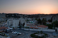 Sunrise in the Old City of Jerusalem in Israel.